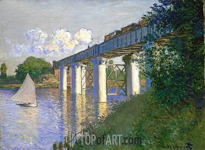 Railroad Bridge, Argenteuil, 1874 | Monet | Painting Reproduction