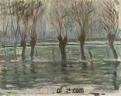 Flood Waters, 1896 | Monet| Painting Reproduction