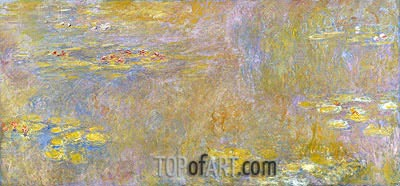 Water-Lilies, a.1907 | Monet| Gemälde Reproduktion