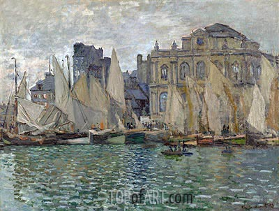 The Museum at Le Havre, 1873 | Monet| Gemälde Reproduktion