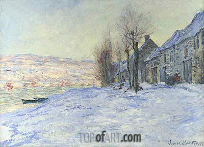 Lavacourt under Snow, 1881 | Monet| Painting Reproduction