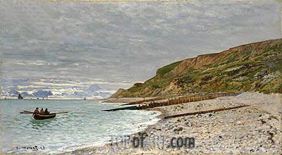 La Pointe de la Heve, Sainte-Adresse, 1864 | Monet | Painting Reproduction