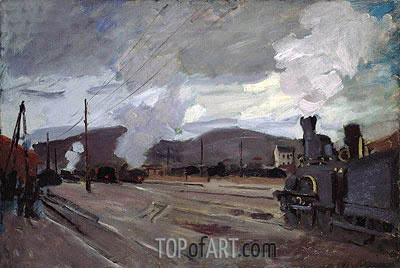 The Railroad Station at Argenteuil, 1872 | Monet | Painting Reproduction