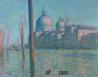 The Grand Canal, Venice, 1908 | Monet | Gemälde Reproduktion
