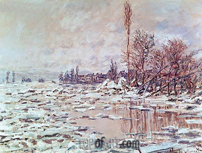 The Ice Breaking Up, 1880 | Monet | Painting Reproduction