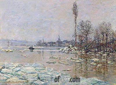Le debacle - The Ice-Flows (Breakup of Ice), 1880 | Monet| Painting Reproduction