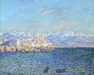 Antibes, Afternoon Effect, 1888 | Monet | Gemälde Reproduktion