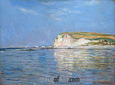 Low Tide at Pourville, near Dieppe, 1882 | Monet| Gemälde Reproduktion