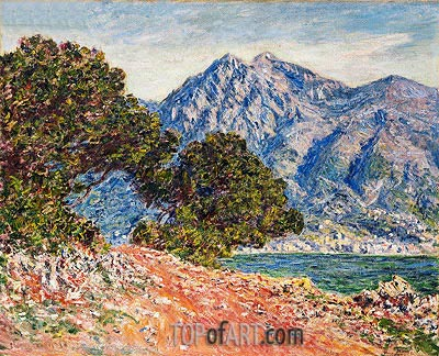 Cap Martin, 1884 | Monet| Painting Reproduction