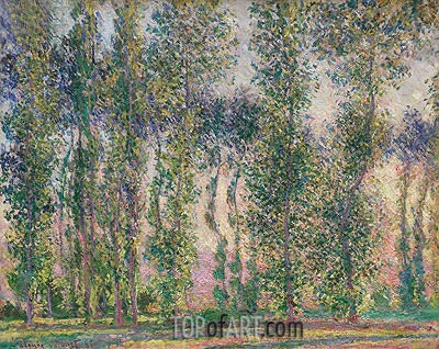 Poplars at Giverny, 1887 | Monet | Gemälde Reproduktion