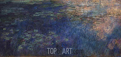 Water Lilies (Reflections of Clouds on the Water-Lily Pond), c.1914/26 | Monet | Painting Reproduction
