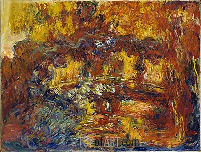 The Japanese Footbridge, c.1920/22 | Monet| Painting Reproduction