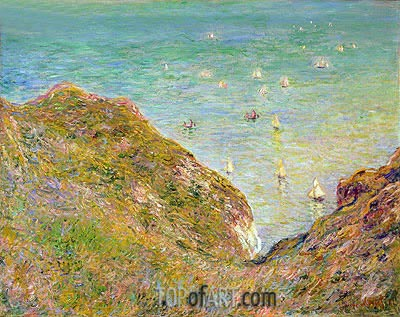 On the Cliff at Pourville, Clear Weather, 1882 | Monet | Gemälde Reproduktion