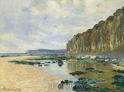 Low Tide at Varengeville (On the Cliff at Pourville), 1882 | Monet | Painting Reproduction