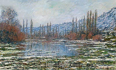 The Thaw at Vetheuil (Melting of Floes), 1881 | Monet | Painting Reproduction