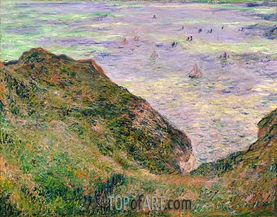 Low Tide at Varengeville, 1882 | Monet | Painting Reproduction