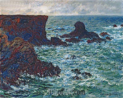 Rocks at Port-Coton, the Lion Rock, Belle Ile, 1886 | Monet | Gemälde Reproduktion