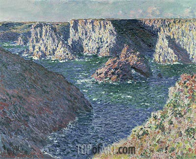 The Rocks at Belle-Ile, 1886 | Monet | Painting Reproduction