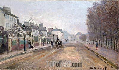 Boulevard Heloise, Argenteuil, 1872 | Monet | Painting Reproduction