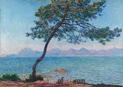 Antibes (The Esterel Mountains), 1888 | Monet | Painting Reproduction