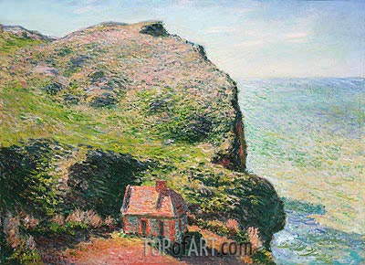Customhouse, Varengeville, 1882 | Monet | Gemälde Reproduktion