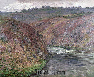 Valley of the Creuse (Gray Day), 1889 | Monet | Gemälde Reproduktion