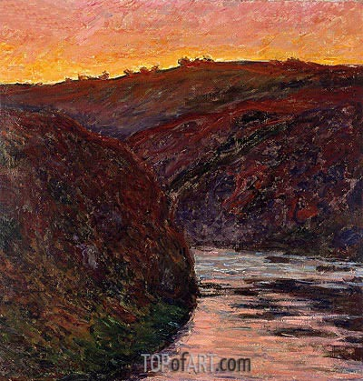 Valley of the Creuse (Sunset), 1889 | Monet | Gemälde Reproduktion