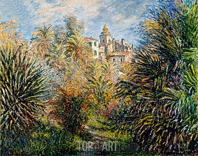 Gardens of the Villa Moreno, Bordighera, 1884 | Monet | Gemälde Reproduktion