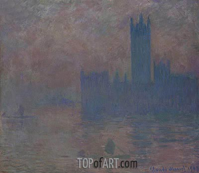 Houses of Parliament, Fog Effect, 1903 | Monet | Painting Reproduction