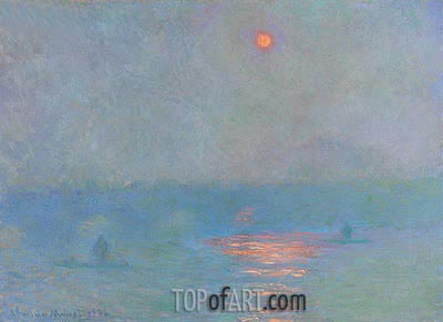 Waterloo Bridge: the Sun in a Fog, 1903 | Monet | Painting Reproduction