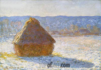 Grainstack (Snow Effect), 1891 | Monet | Painting Reproduction