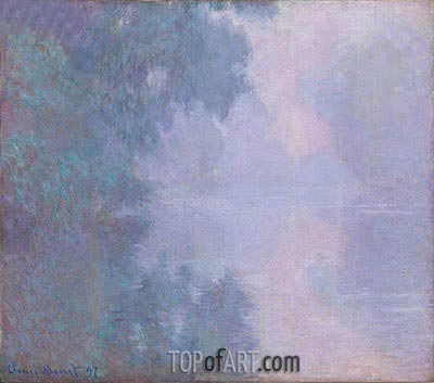 Morning on the Seine, Giverny, 1897 | Monet | Gemälde Reproduktion