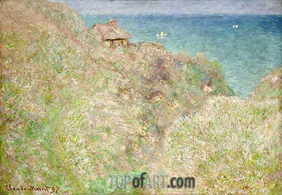 Cliffs at Varengeville, 1897 | Monet | Gemälde Reproduktion