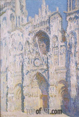 Rouen Cathedral in Full Sunlight: Harmony in Blue and Gold, 1894 | Monet| Painting Reproduction