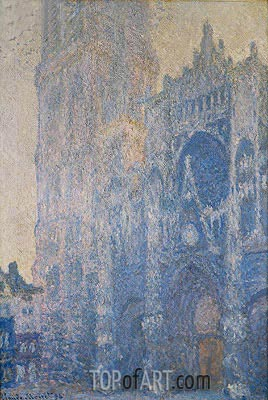 Rouen Cathedral, Harmony in White, Morning Light, 1894 | Monet| Painting Reproduction