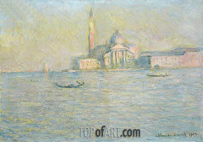 The Church of San Giorgio Maggiore, Venice, 1908 | Monet | Painting Reproduction