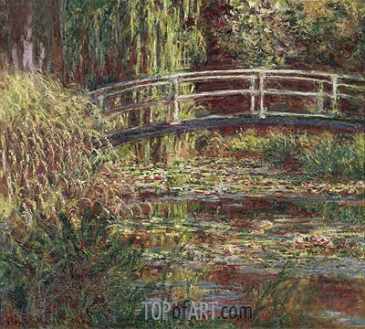 Water-Lily Pond: Pink Harmony, 1900 | Monet | Painting Reproduction