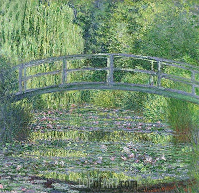 The Water-Lily Pond: Green Harmony, 1899 | Monet| Painting Reproduction