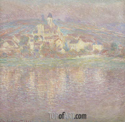 Vetheuil at Sunset, 1901 | Monet | Painting Reproduction