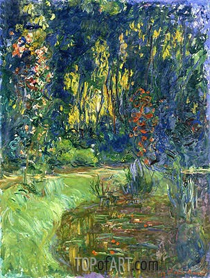 The Water-Lily Pond at Giverny, 1917 | Monet| Painting Reproduction