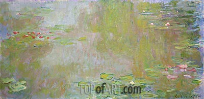 The Water-Lilies Pond at Giverny, 1917 | Monet| Painting Reproduction