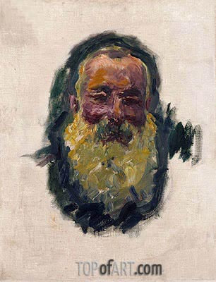 Self Portrait, 1917 | Monet| Painting Reproduction