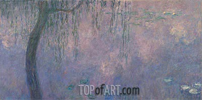 Nympheas (The Two Willows) Part 1, c.1920/26 | Monet | Painting Reproduction