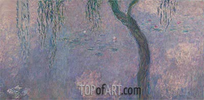 Nympheas (The Two Willows) Part 4, c.1920/26 | Monet | Painting Reproduction