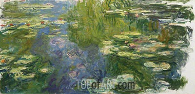 Water Lily Pond, c.1917/19 | Monet | Painting Reproduction