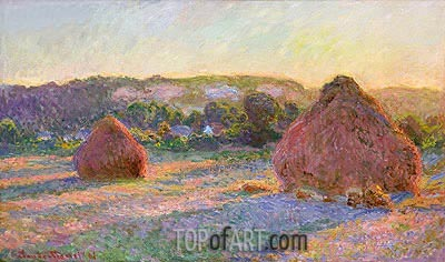 Stacks of Wheat (End of Summer), 1891 | Monet | Painting Reproduction