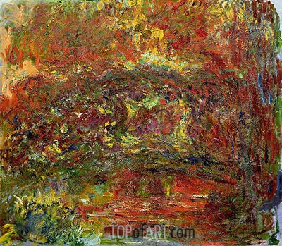 The Japanese Bridge, c.1918/24  | Monet | Painting Reproduction