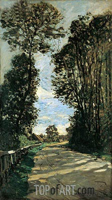 Spring (The Road to the Farm Saint Simeon), 1864 | Monet | Painting Reproduction