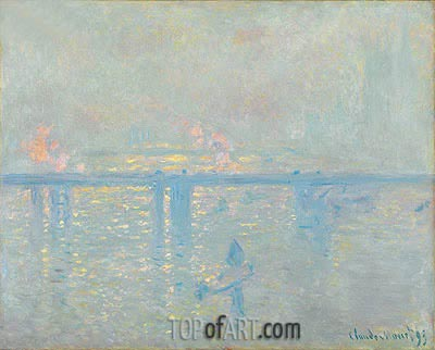 Charing Cross Bridge, 1899 | Monet | Painting Reproduction