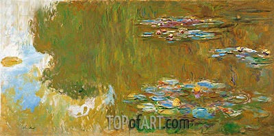 The Water Lily Pond, c.1917/19 | Monet| Painting Reproduction